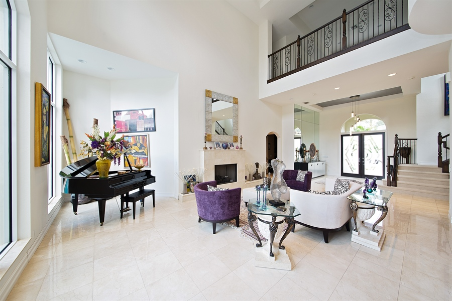Real Estate Photography - 9556 Bridgebrook Dr, Boca Raton, FL, 33496 - Living Room