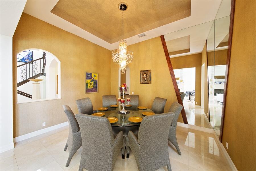Real Estate Photography - 9556 Bridgebrook Dr, Boca Raton, FL, 33496 - Dining Room