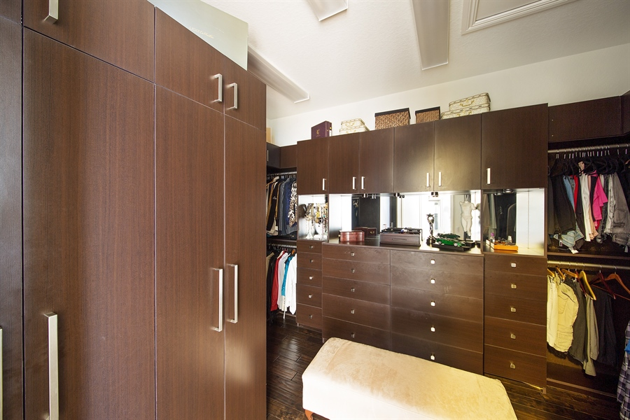 Real Estate Photography - 9556 Bridgebrook Dr, Boca Raton, FL, 33496 - Master Bedroom Closet