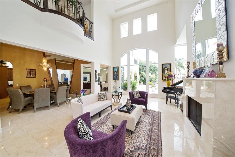 Real Estate Photography - 9556 Bridgebrook Dr, Boca Raton, FL, 33496 - Living Room / Dining Room