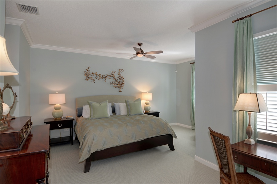 Real Estate Photography - 102 Castries Drive, Jupiter, FL, 33458 - Master Bedroom