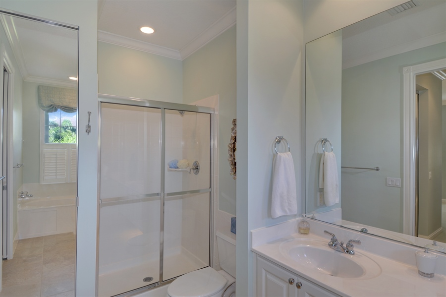 Real Estate Photography - 102 Castries Drive, Jupiter, FL, 33458 - Master Bathroom