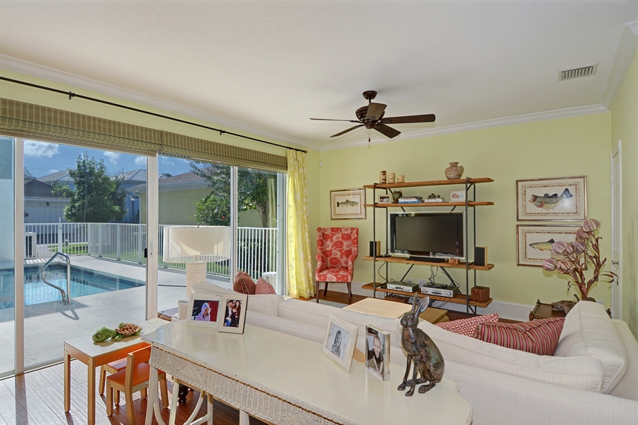 Real Estate Photography - 102 Castries Drive, Jupiter, FL, 33458 - Family Room