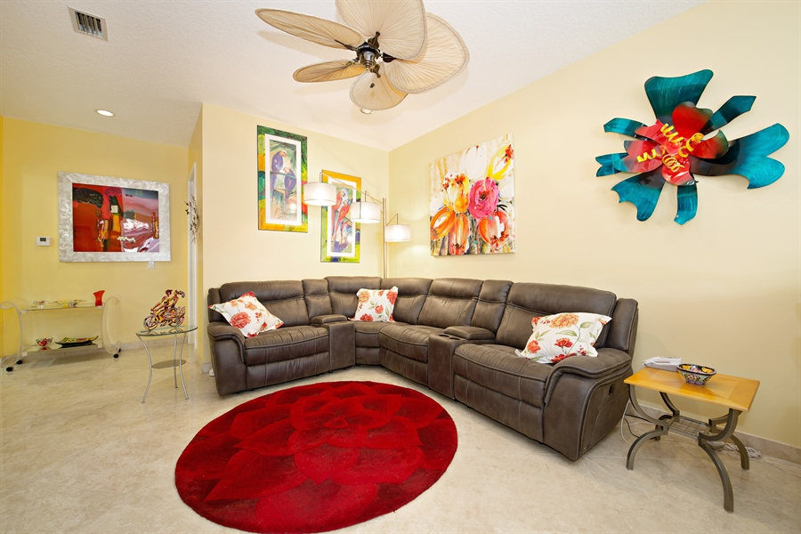 Real Estate Photography - 20808 NE 37th Ave, Aventura, FL, 33180 - Family Room