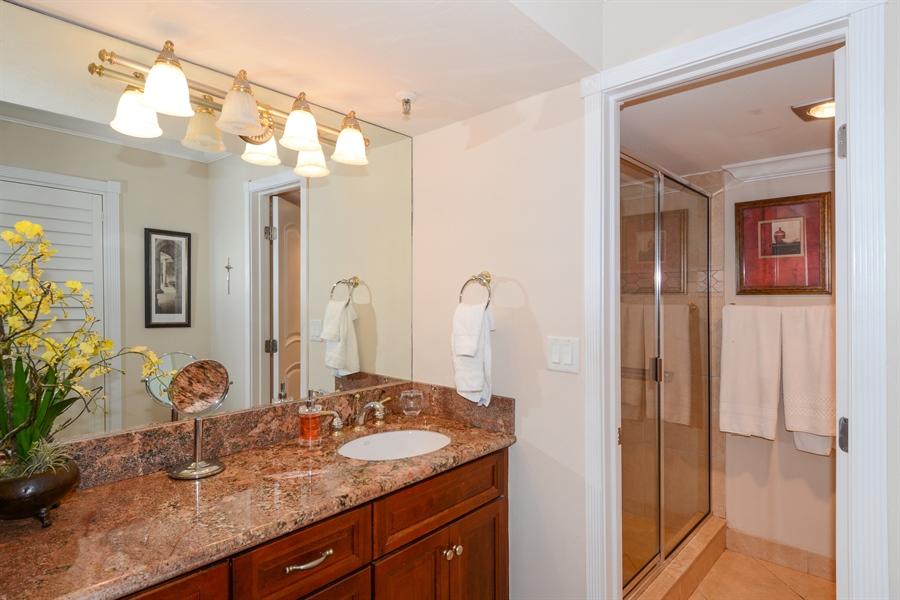 Real Estate Photography - 100 Ocean Trail, Unit 301, Jupiter, FL, 33477 - Master Bathroom
