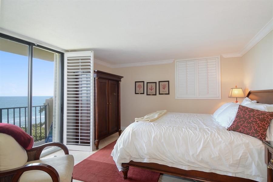 Real Estate Photography - 100 Ocean Trail, Unit 301, Jupiter, FL, 33477 - Master Bedroom