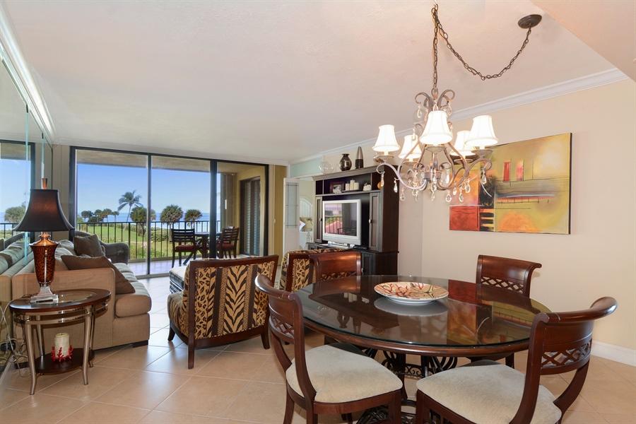 Real Estate Photography - 100 Ocean Trail, Unit 301, Jupiter, FL, 33477 - Living Room / Dining Room