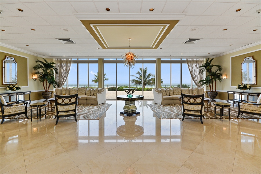 Real Estate Photography - 2800 S Ocean Blvd, Common Areas, Boca Raton, FL, 33432 - Entrance Lobby