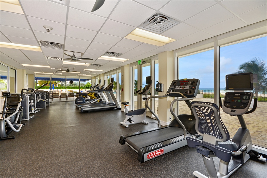 Real Estate Photography - 2800 S Ocean Blvd, Common Areas, Boca Raton, FL, 33432 - Fitness Center
