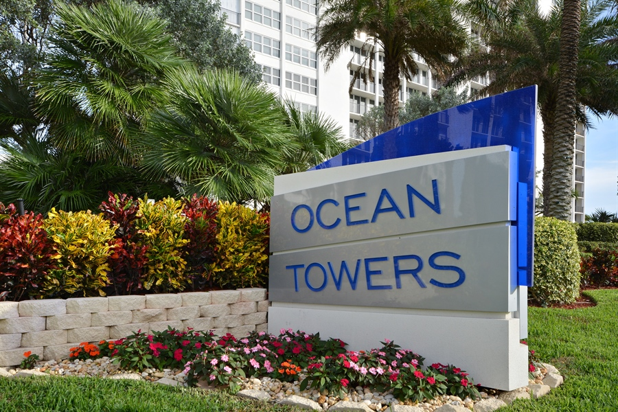 Real Estate Photography - 2800 S Ocean Blvd, Common Areas, Boca Raton, FL, 33432 - Ocean Towers (Sign)