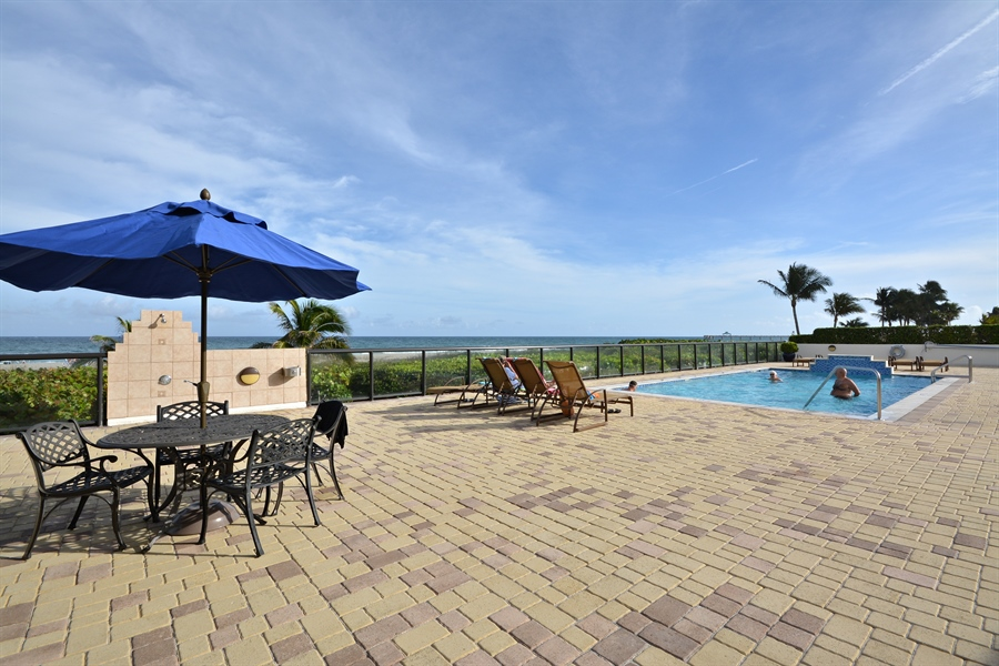 Real Estate Photography - 2800 S Ocean Blvd, Common Areas, Boca Raton, FL, 33432 - South Pool Area