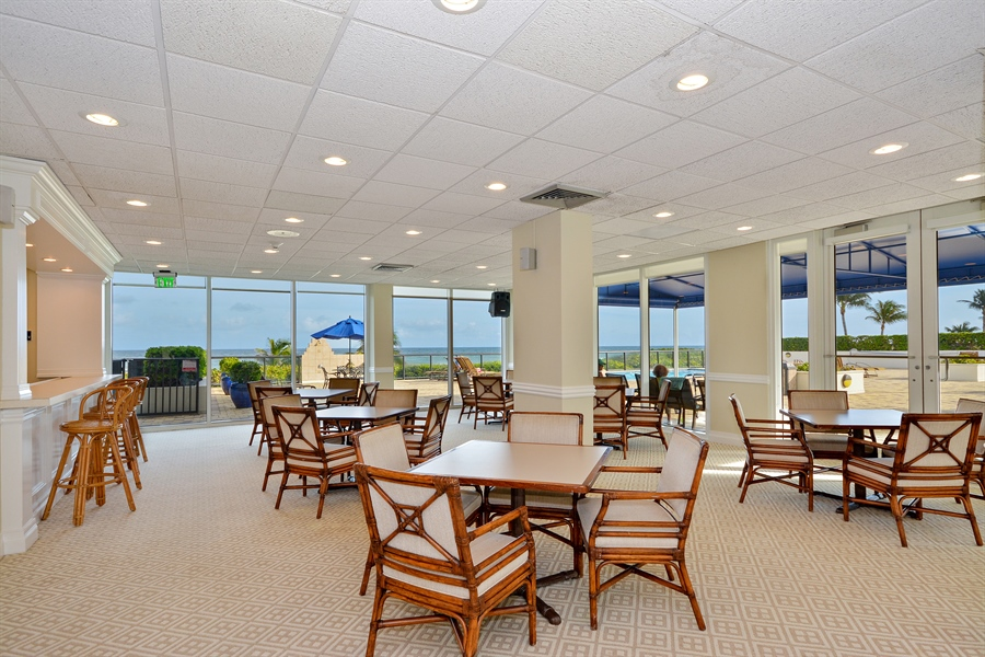 Real Estate Photography - 2800 S Ocean Blvd, Common Areas, Boca Raton, FL, 33432 - South Lounge