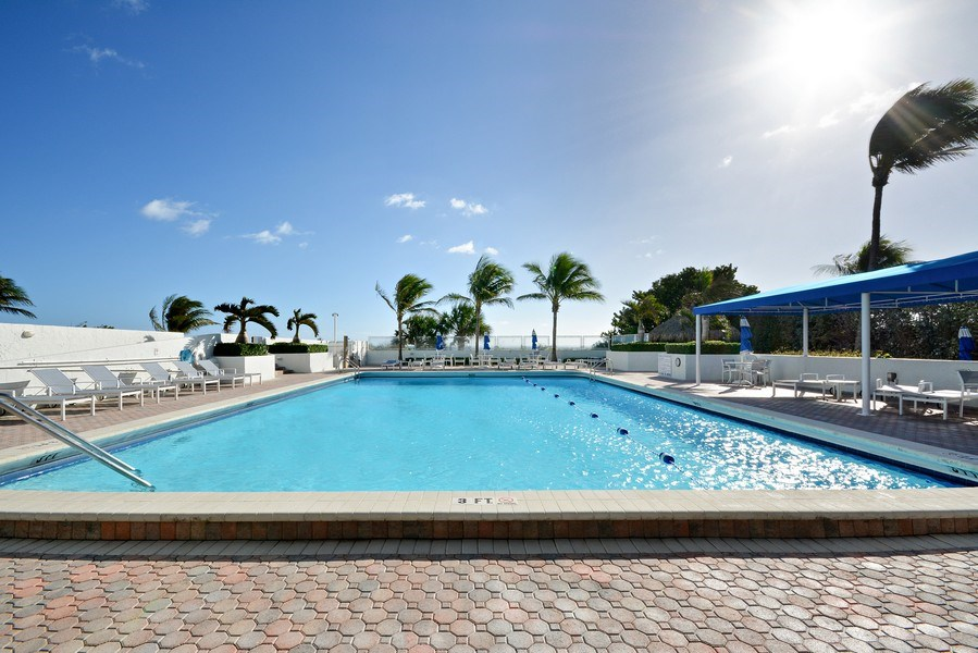 Real Estate Photography - 2600 S Ocean Blvd, Common Areas, Boca Raton, FL, 33432 - OCEANFRONT Pool