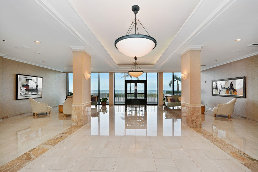 Real Estate Photography - 2600 S Ocean Blvd, Common Areas, Boca Raton, FL, 33432 - Entrance Lobby
