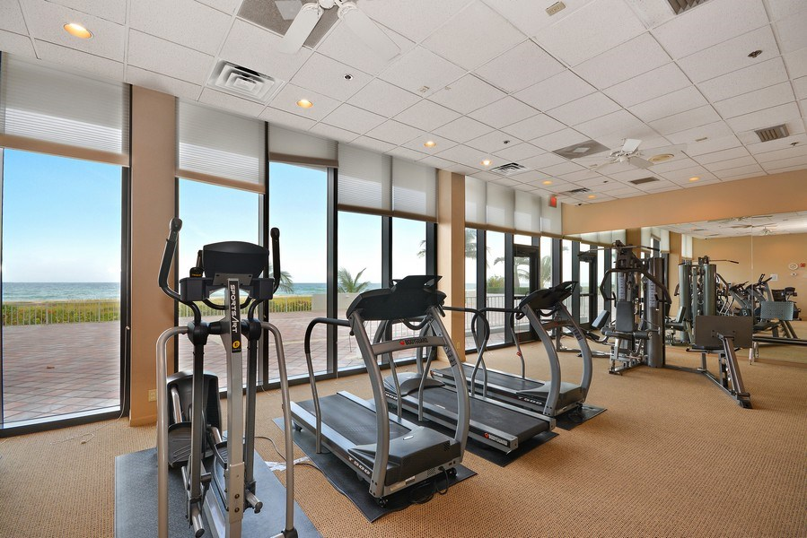 Real Estate Photography - 2600 S Ocean Blvd, Common Areas, Boca Raton, FL, 33432 - Fitness center