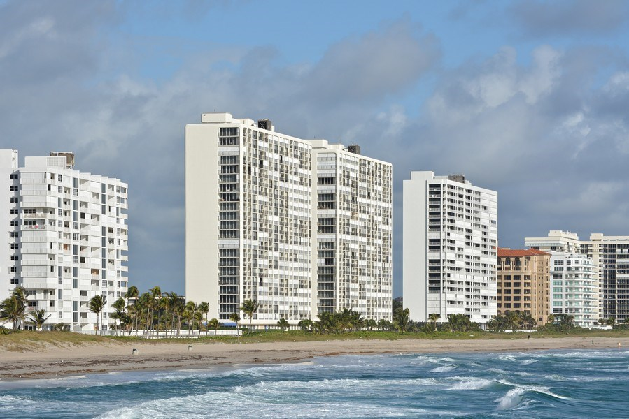 Real Estate Photography - 2600 S Ocean Blvd, Common Areas, Boca Raton, FL, 33432 - As seen from SEA