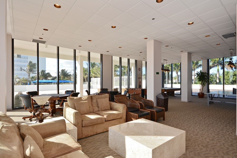 Real Estate Photography - 2600 S Ocean Blvd, Common Areas, Boca Raton, FL, 33432 - Game Room