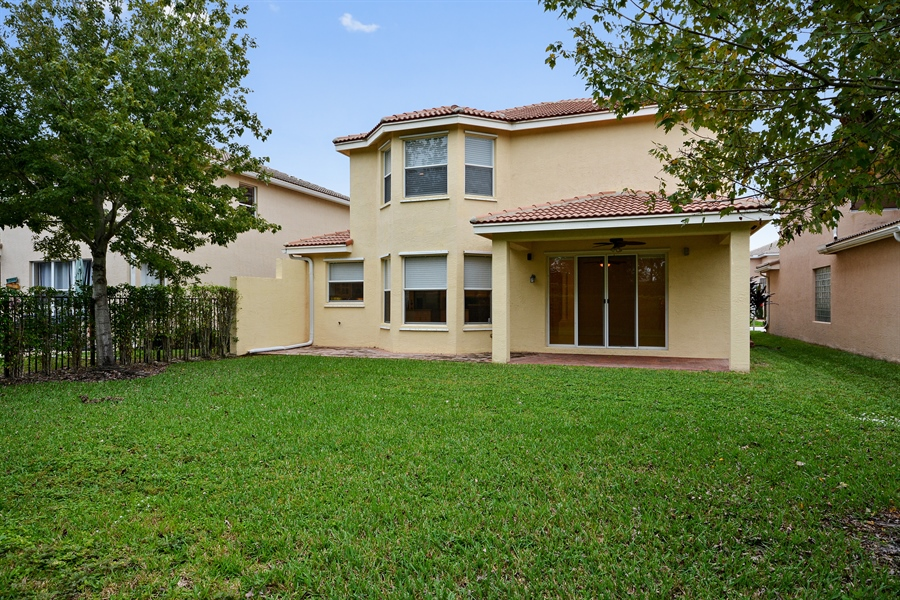 Real Estate Photography - 11186 Millpond Greens Dr, Boynton Beach, FL, 33473 - Rear View