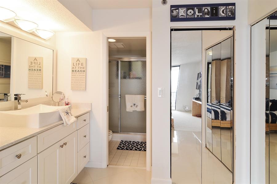 Real Estate Photography - 200 Ocean Trail Way, 902, Jupiter, FL, 33477 - Master Bathroom