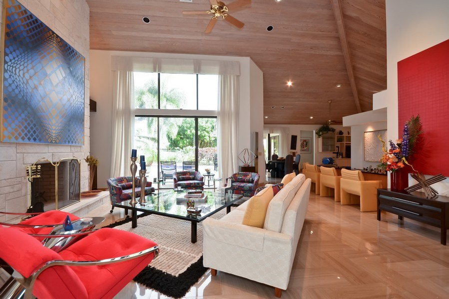 Real Estate Photography - 7571 Manderin Dr, Boca Raton, FL, 33433 - Living Room