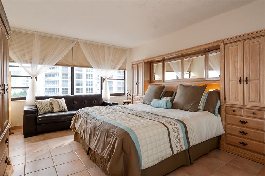 Real Estate Photography - 3505 S Ocean Dr, Unit 714, Hollywood, FL, 33019 - Master Bedroom