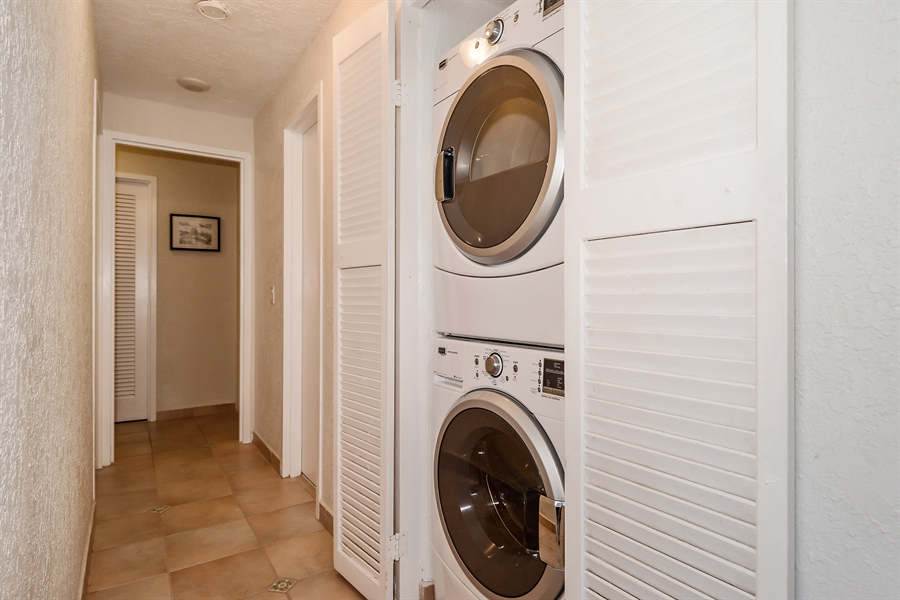 Real Estate Photography - 3505 S Ocean Dr, Unit 714, Hollywood, FL, 33019 - Laundry Room