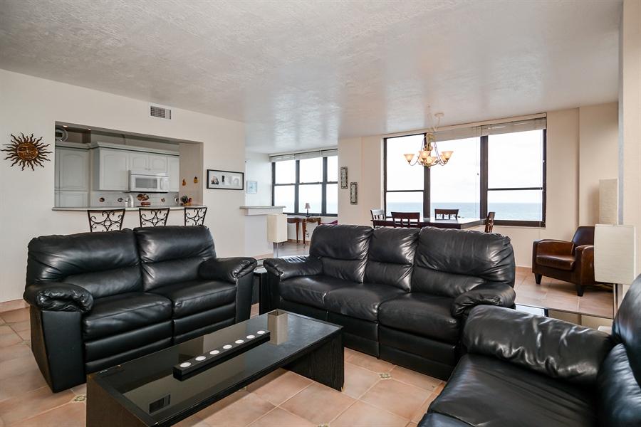 Real Estate Photography - 3505 S Ocean Dr, Unit 714, Hollywood, FL, 33019 - Kitchen / Living Room
