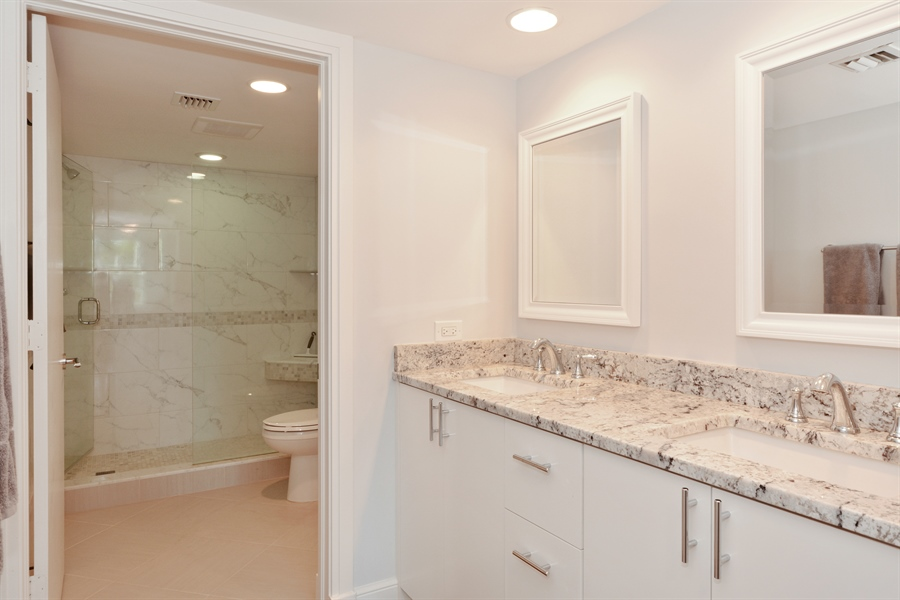 Real Estate Photography - 1 Harbourside, Unit 4307, Delray Beach, FL, 33483 - Master Bathroom