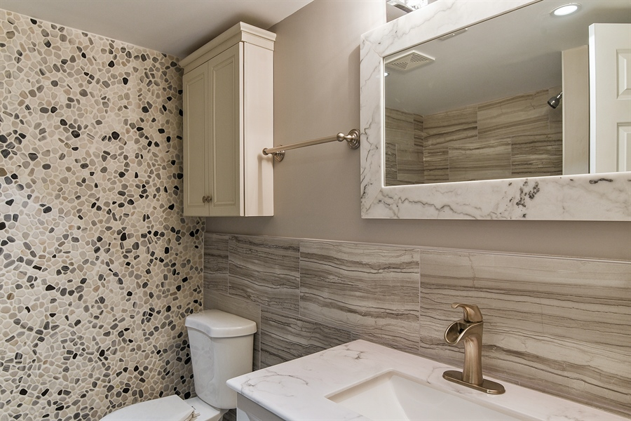 Real Estate Photography - 1914 E 170th Pl, South Holland, IL, 60473 - Lower bathroom
