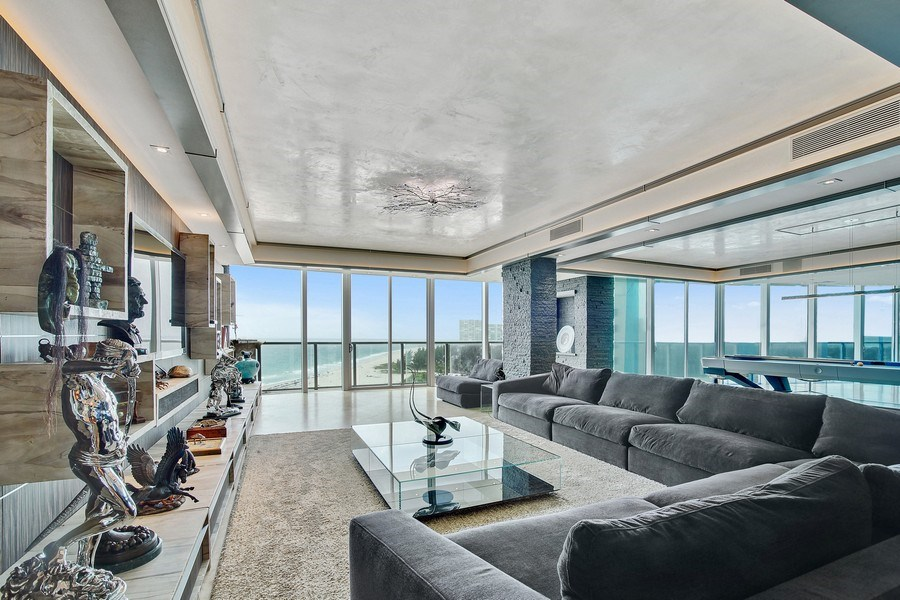 Real Estate Photography - 1200 Holiday Dr, Unit 1103, Fort Lauderdale, FL, 33316 - Living Room