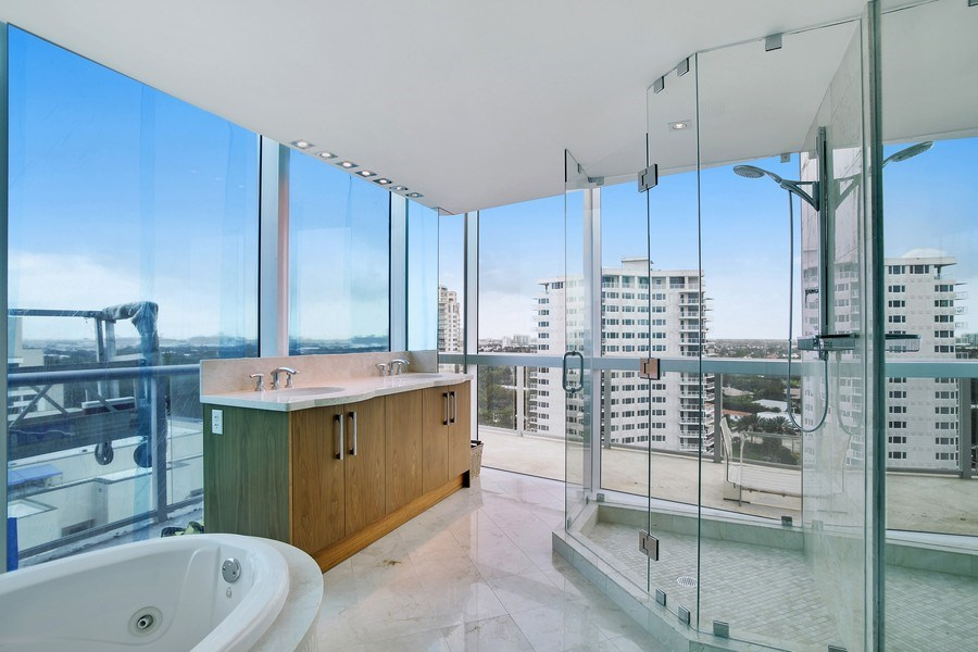 Real Estate Photography - 1200 Holiday Dr, Unit 1103, Fort Lauderdale, FL, 33316 - 4th Bathroom