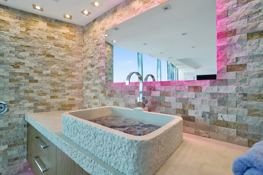Real Estate Photography - 1200 Holiday Dr, Unit 1103, Fort Lauderdale, FL, 33316 - Master Bathroom