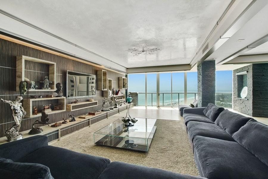 Real Estate Photography - 1200 Holiday Dr, Unit 1103, Fort Lauderdale, FL, 33316 - Living Room