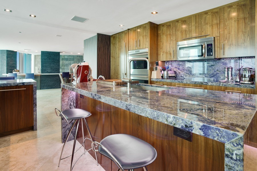 Real Estate Photography - 1200 Holiday Dr, Unit 1103, Fort Lauderdale, FL, 33316 - Kitchen