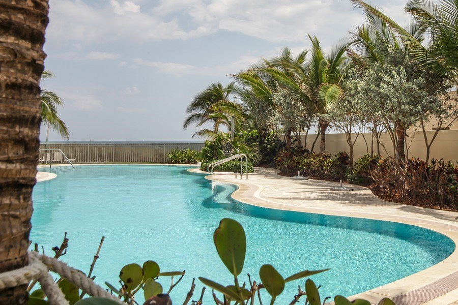 Real Estate Photography - 1200 Holiday Dr, Unit 1103, Fort Lauderdale, FL, 33316 - Pool
