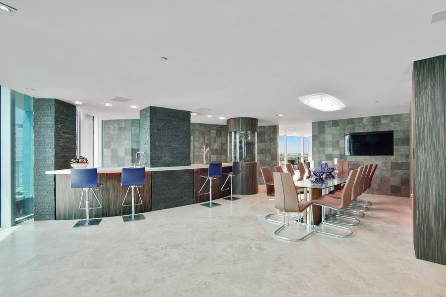 Real Estate Photography - 1200 Holiday Dr, Unit 1103, Fort Lauderdale, FL, 33316 - Dining Area 2