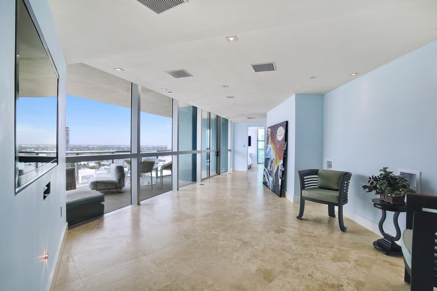 Real Estate Photography - 1200 Holiday Dr, Unit 1103, Fort Lauderdale, FL, 33316 - Hallway
