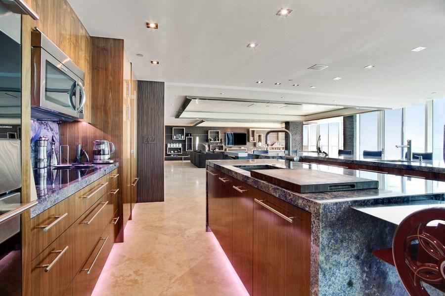 Real Estate Photography - 1200 Holiday Dr, Unit 1103, Fort Lauderdale, FL, 33316 - Kitchen/Living