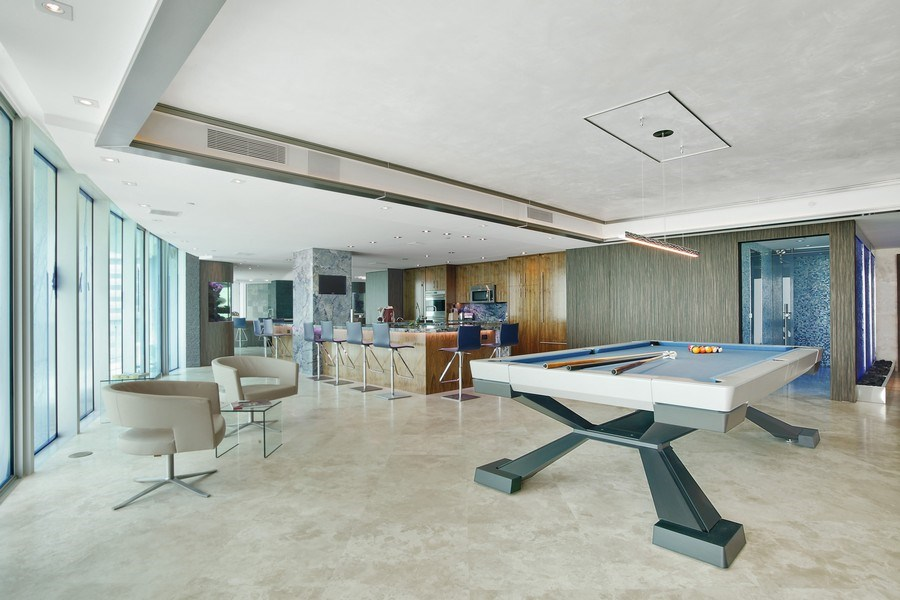 Real Estate Photography - 1200 Holiday Dr, Unit 1103, Fort Lauderdale, FL, 33316 - Family Room / Kitchen