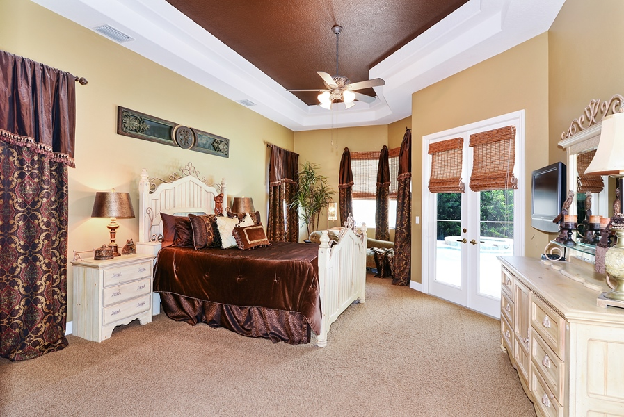 Real Estate Photography - 5124 Rue Vendome, Lutz, FL, 33558 - Master Bedroom