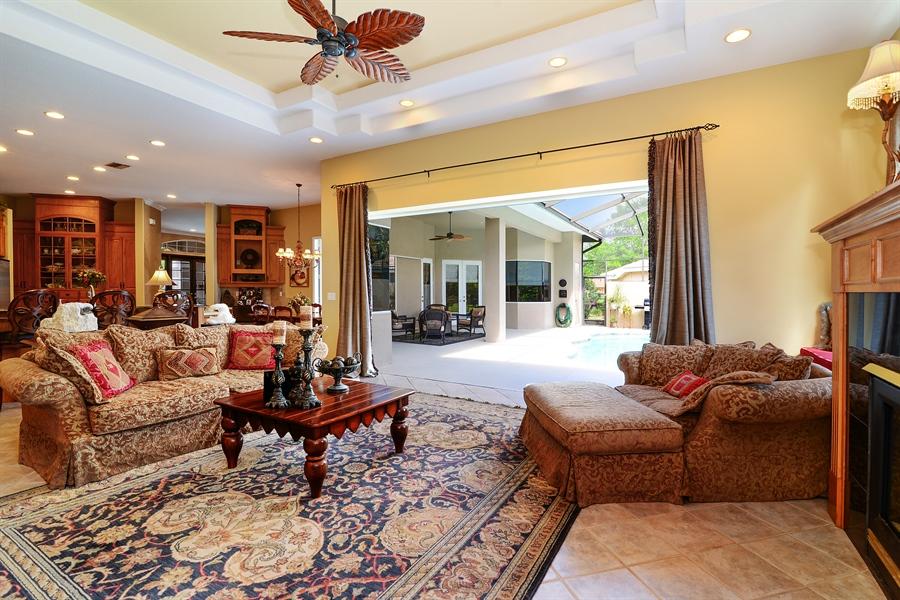 Real Estate Photography - 5124 Rue Vendome, Lutz, FL, 33558 - Family Room