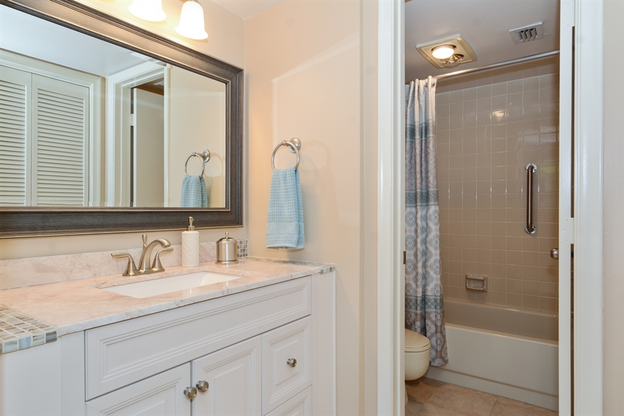 Real Estate Photography - 520 SE 12th St, Unit 103, Dania Beach, FL, 33004 - Master Bathroom