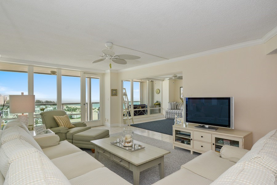 Real Estate Photography - 2100 S Ocean Ln 1503, Fort Lauderdale, FL, 33316 - Living Room