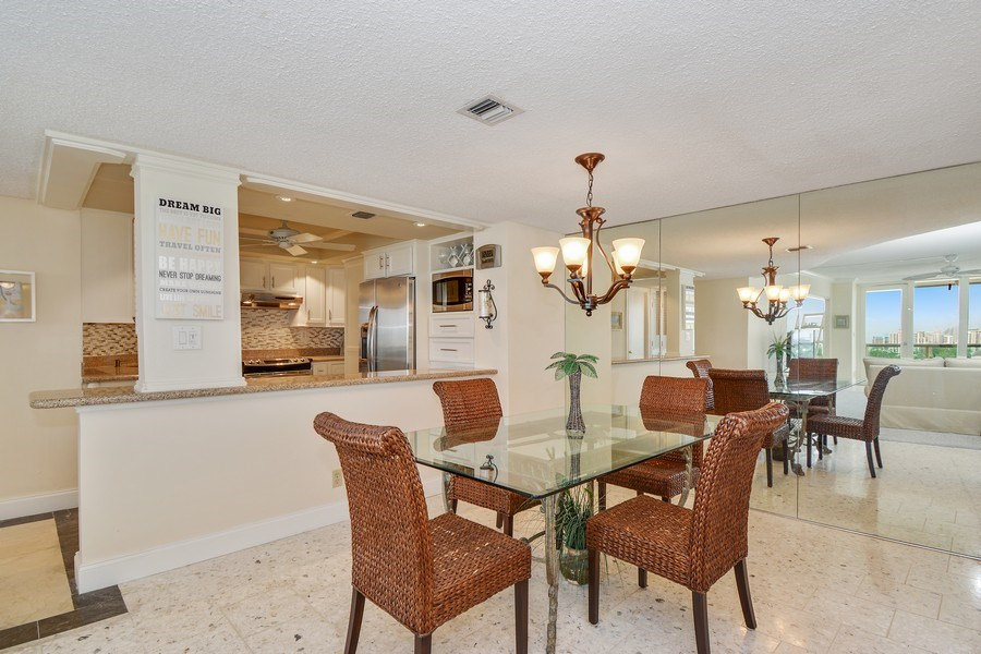 Real Estate Photography - 2100 S Ocean Ln 1503, Fort Lauderdale, FL, 33316 - Dining Room