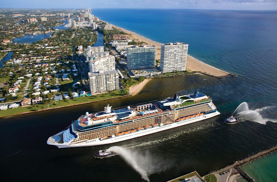 Real Estate Photography - 2100 S Ocean Ln 1503, Fort Lauderdale, FL, 33316 - Cruise ship
