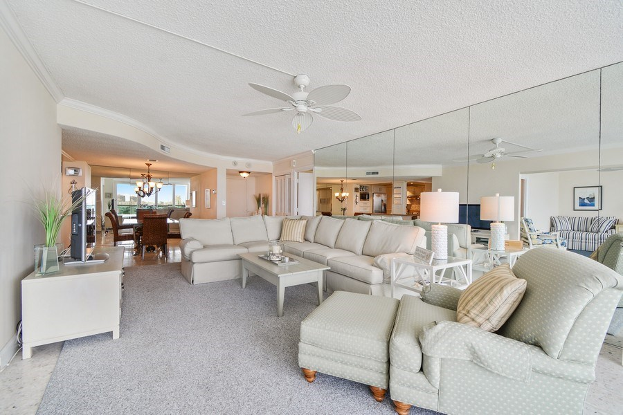 Real Estate Photography - 2100 S Ocean Ln 1503, Fort Lauderdale, FL, 33316 - Living Room / Dining Room