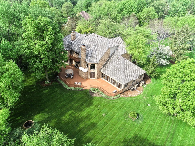 Real Estate Photography - 3929 Forest Fork, Long Grove, IL, 60047 - Aerial View