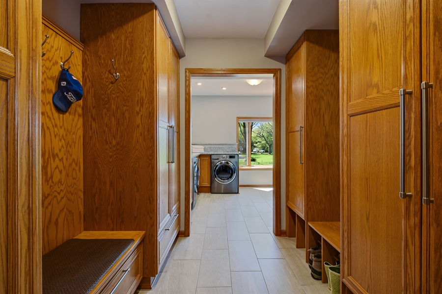 Real Estate Photography - 3929 Forest Fork, Long Grove, IL, 60047 - Mudroom