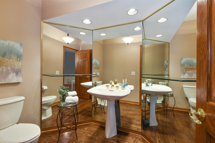 Real Estate Photography - 3929 Forest Fork, Long Grove, IL, 60047 - Powder Room
