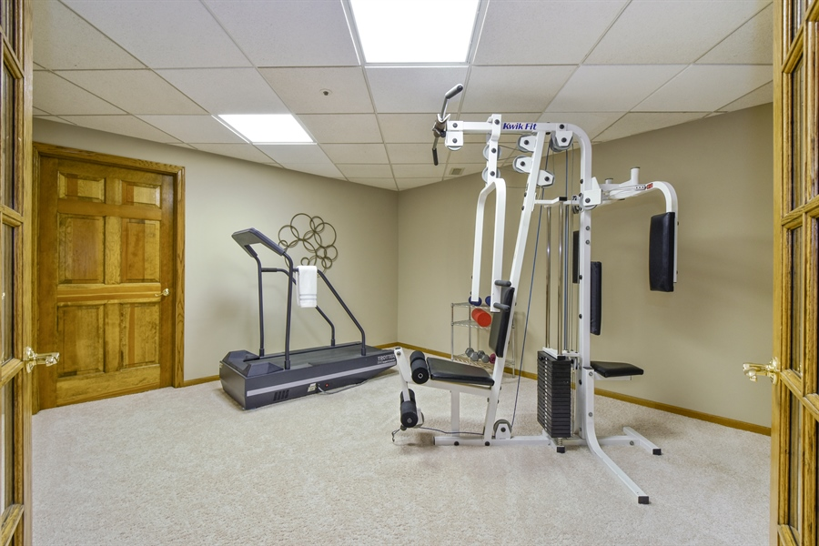 Real Estate Photography - 3929 Forest Fork, Long Grove, IL, 60047 - Fitness Room